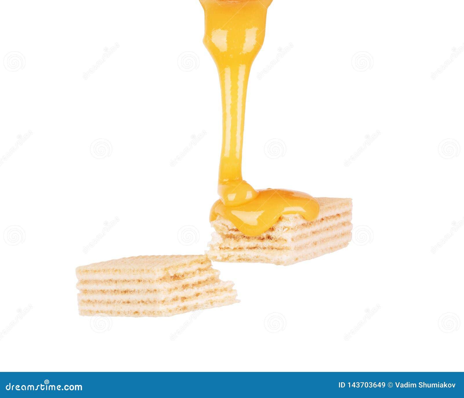 S?odki karmelu kumberland nalewa na gofra ciastkach