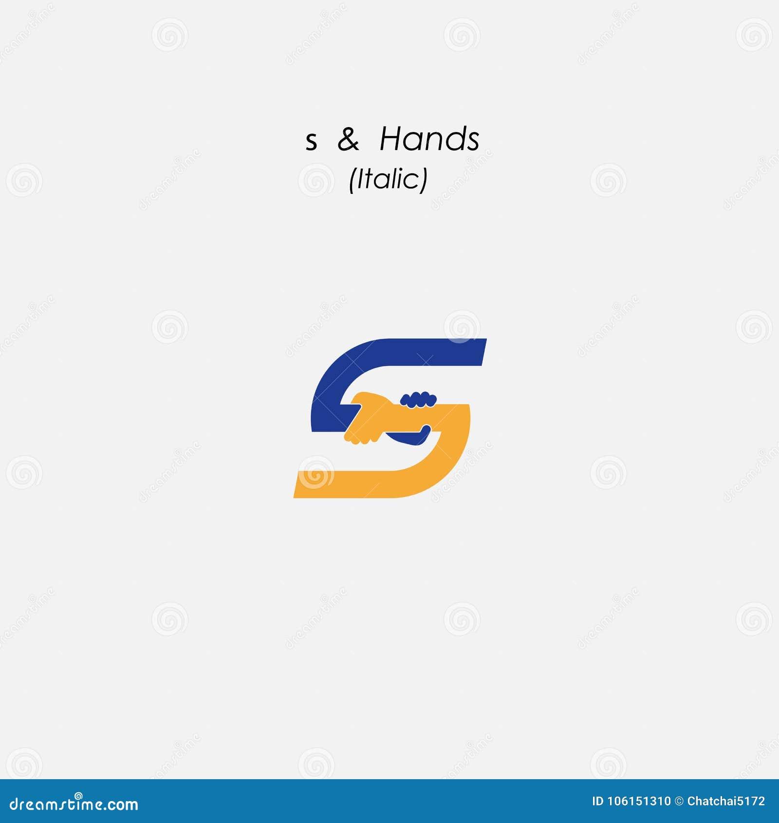 S - Ponga letras al icono abstracto y da la plantilla del vector del diseño del logotipo megabus