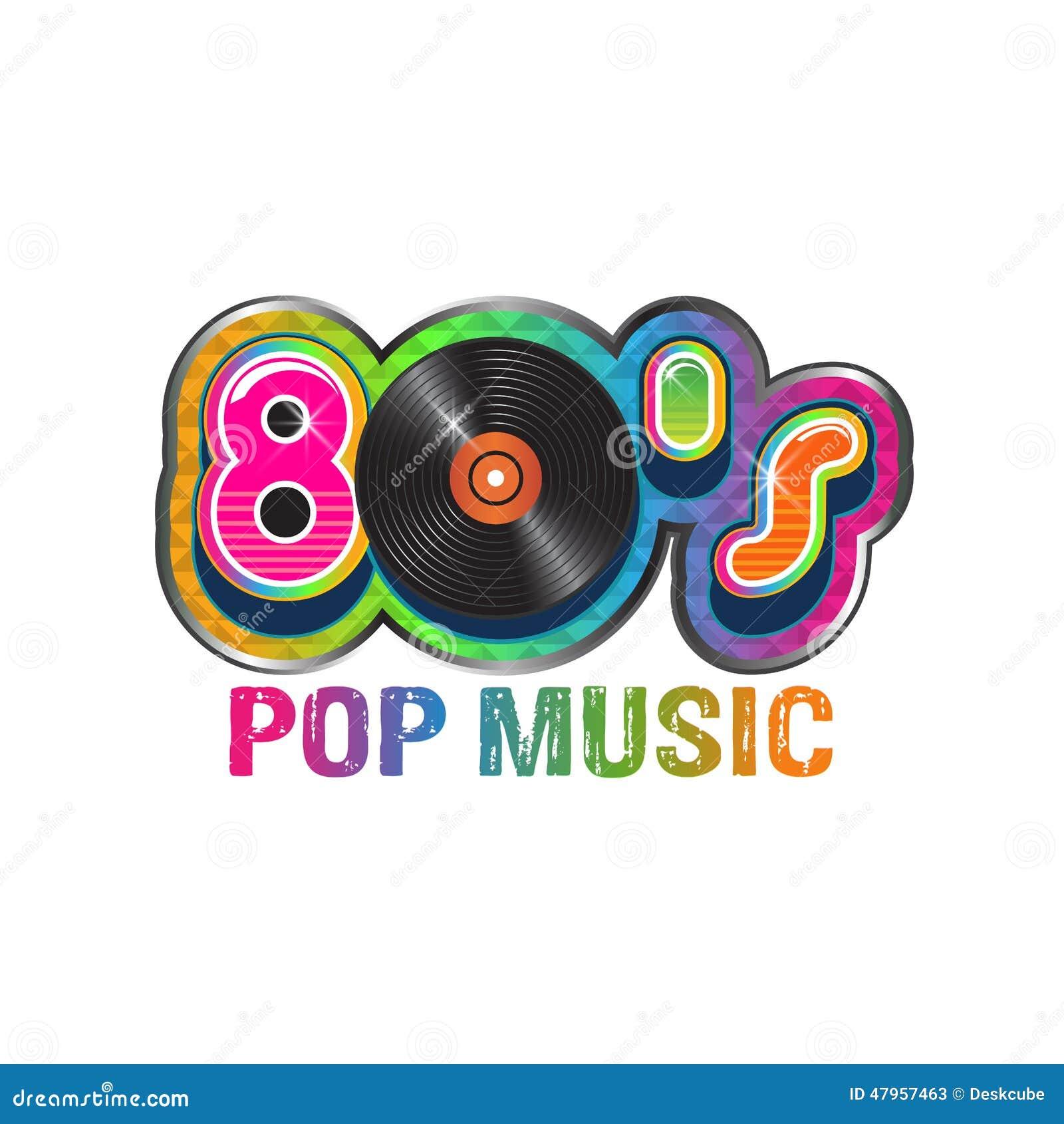 80s pop music vinyl disc  stock vector  Illustration of retro - 47957463