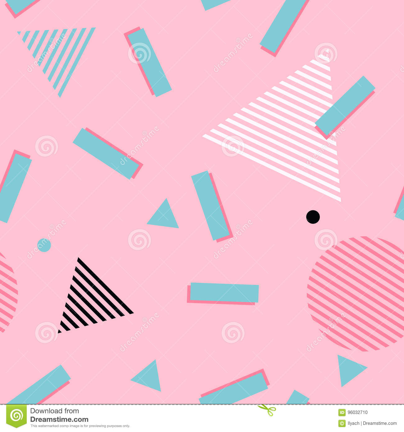 80s 90s Background Seamless Vector Pop Art Pattern Wallpaper