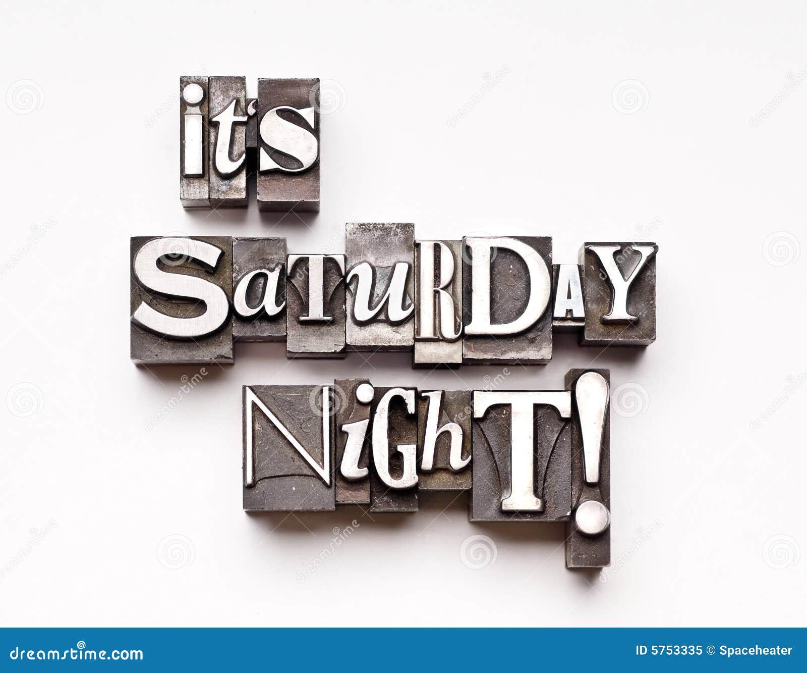It S Saturday Night! Royalty Free Stock Photo