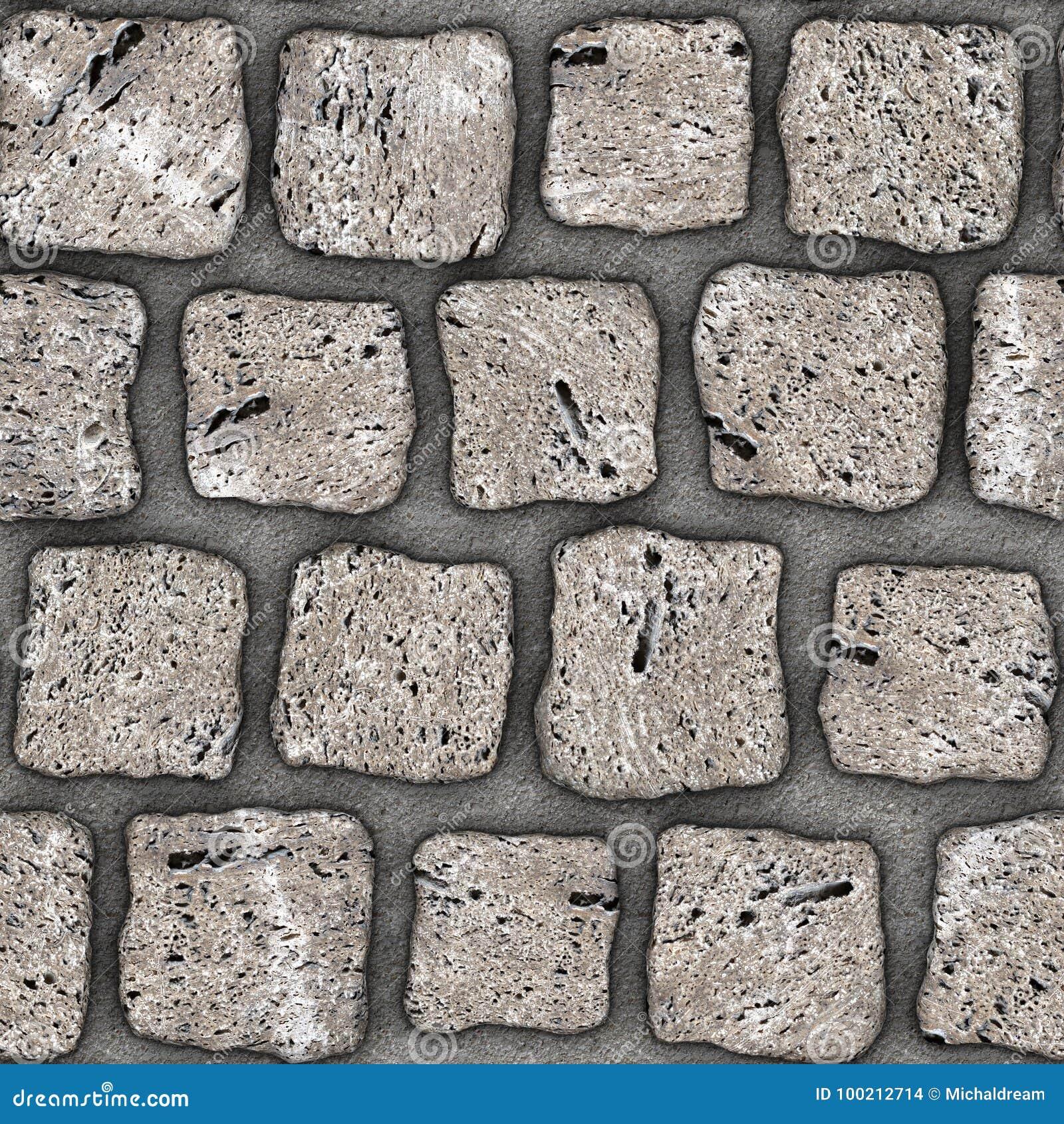 s075 seamless texture cobblestone pavers stock illustration