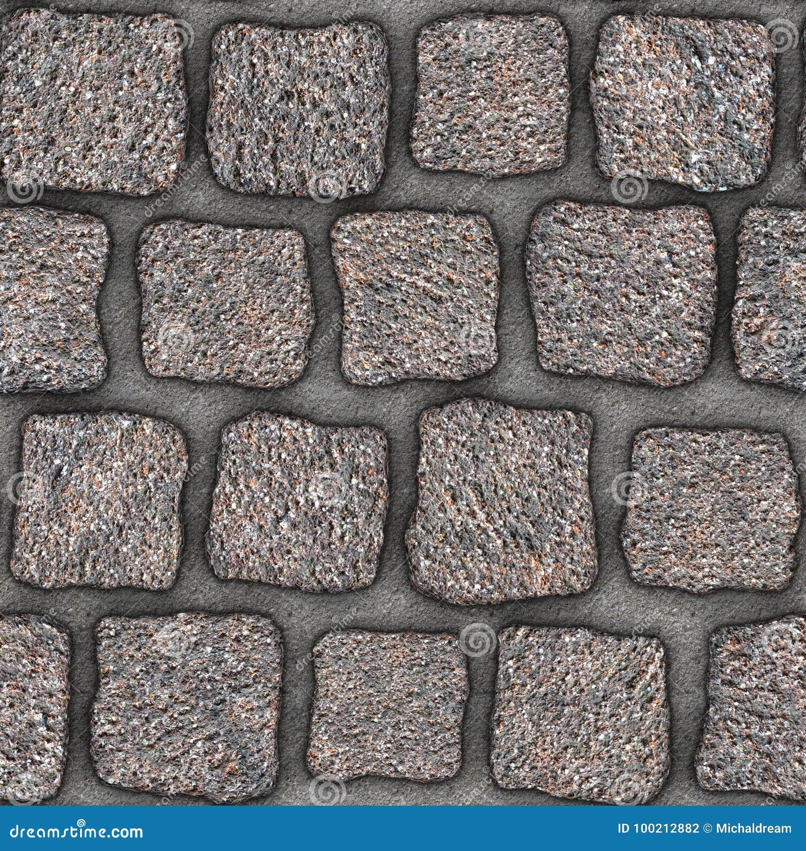 s074 seamless texture cobblestone pavers stock illustration