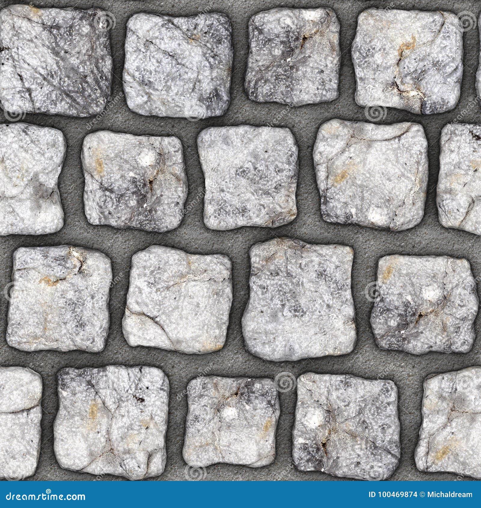 s088 seamless texture cobblestone pavers stock illustration