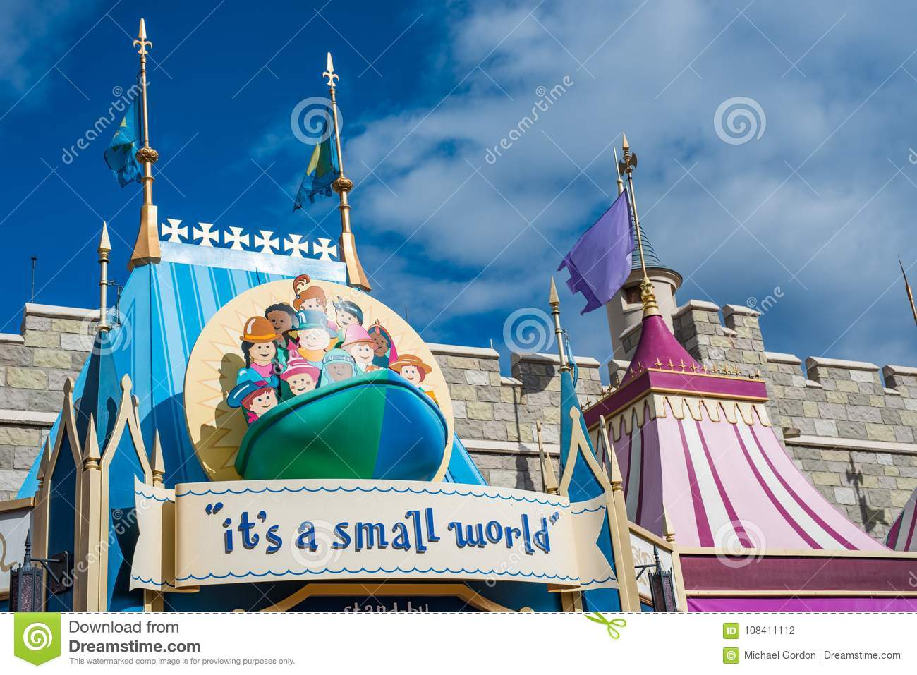 It S A Small World Ride At The Magic Kingdom Walt Disney World