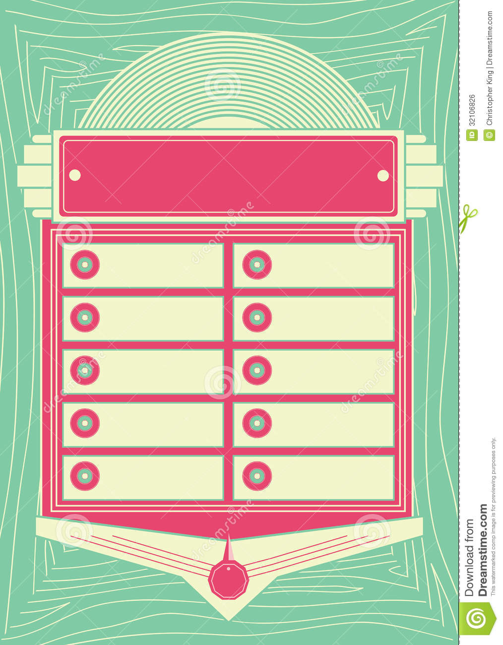 1950s Style Jukebox Background and Frame