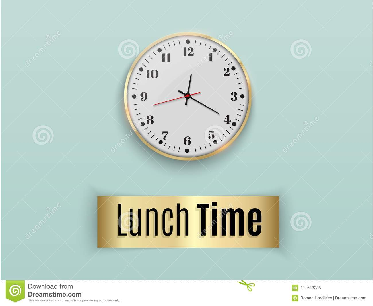 Office Wall Clock Template Design In Large Size A Layout For