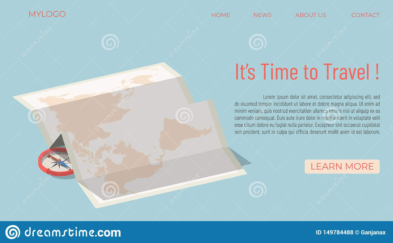 It`s time to travel template concept