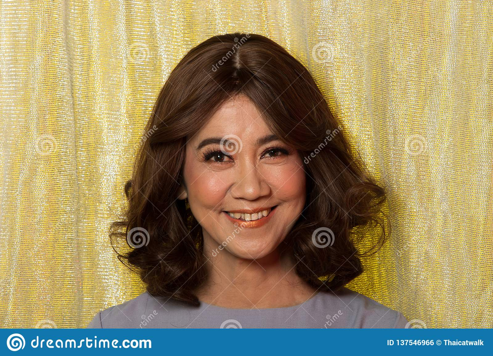 50s 60s years old Fashion Asian Woman Portrait