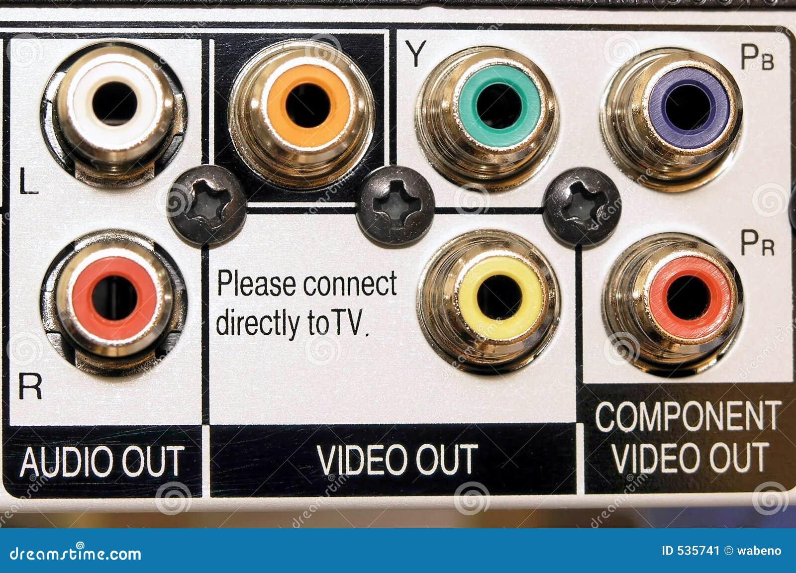 Saída audio e video