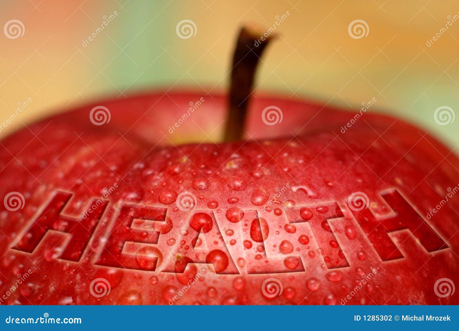 Saúde - maçã molhada