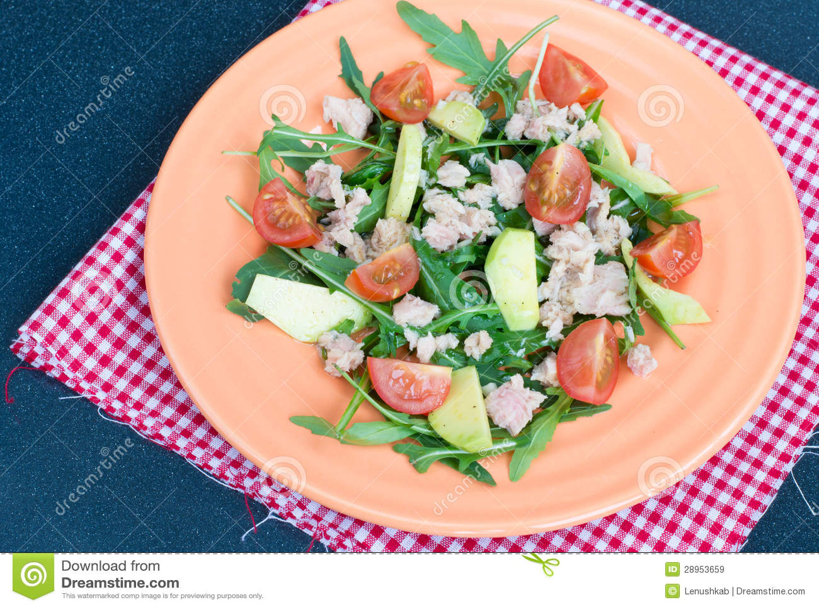 Sałatka z tuńczykiem i avocado
