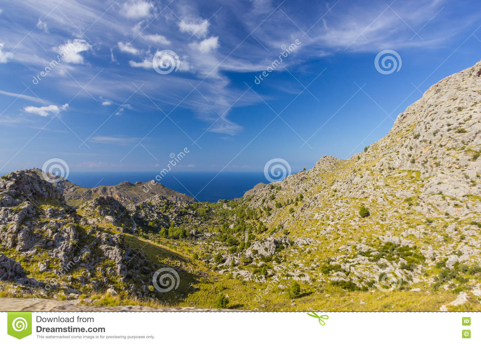 在马略卡海岛,西班牙上的Sa Calobra