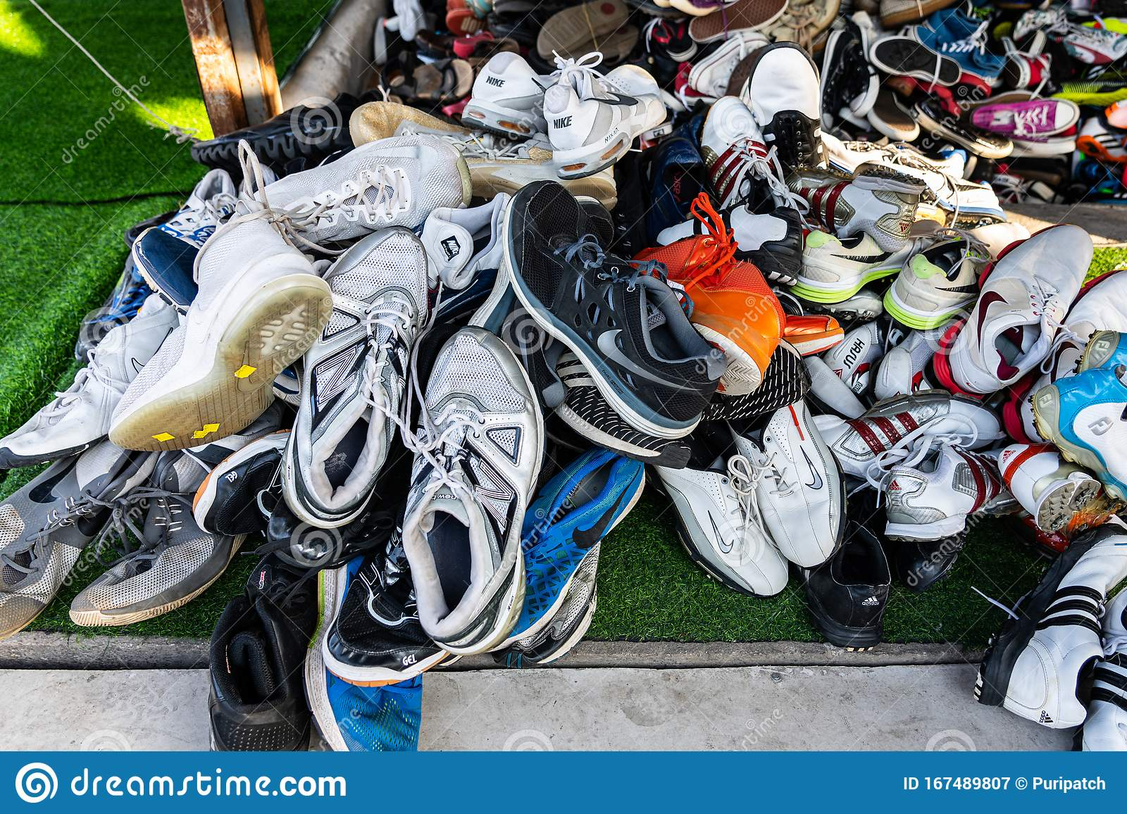 Used Shoes In The Second Hand Shoe Shop