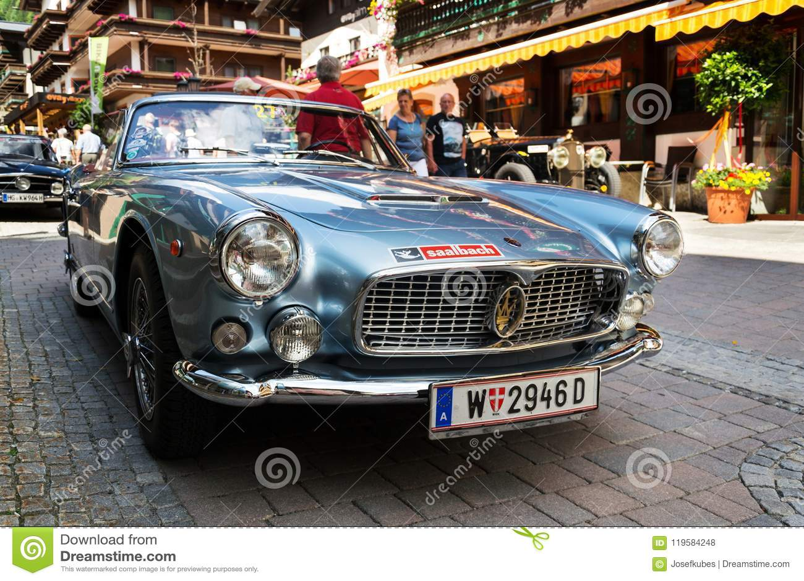 Maserati 3500 GT Oldsmobile Vintage Veteran Car Editorial Stock ...