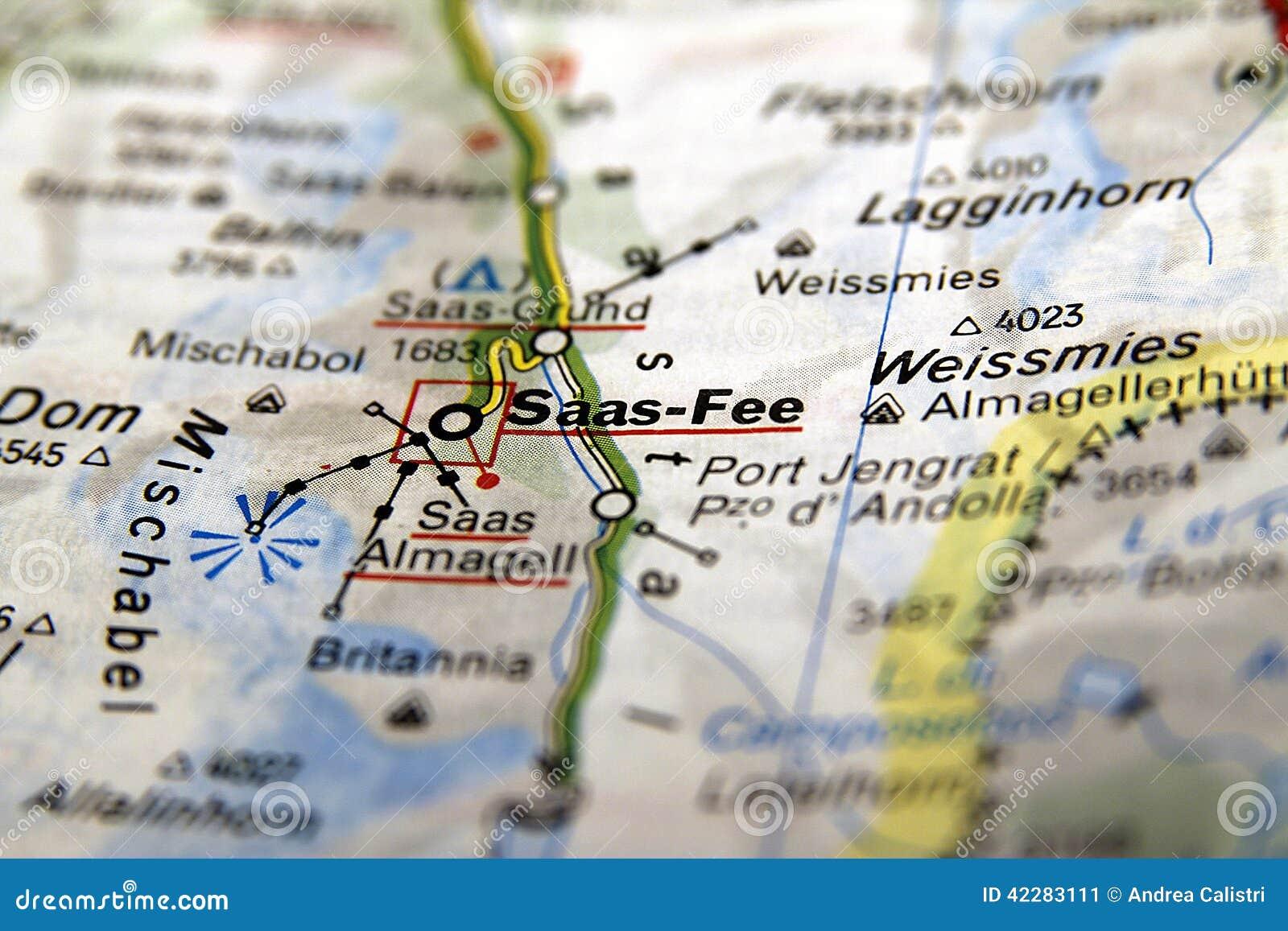 Saas-αμοιβή στο χάρτη