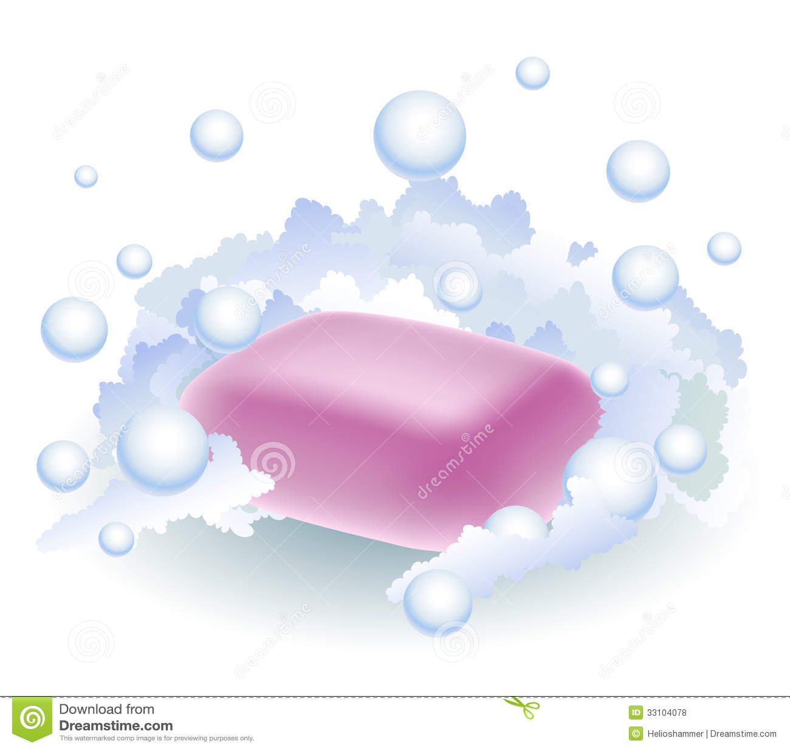 Sabão cor-de-rosa na espuma
