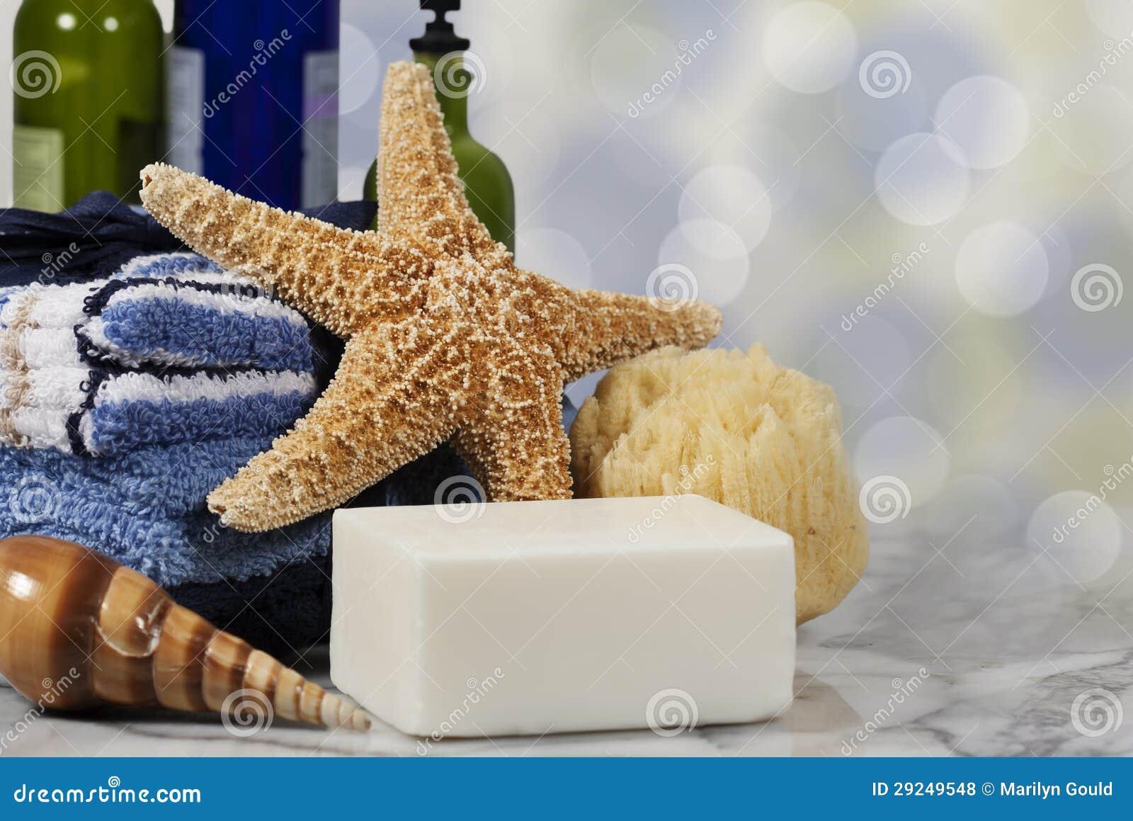 Download Sabão Do Conceito Dos Termas Do Banho Foto de Stock - Imagem de azul, washcloths: 29249548