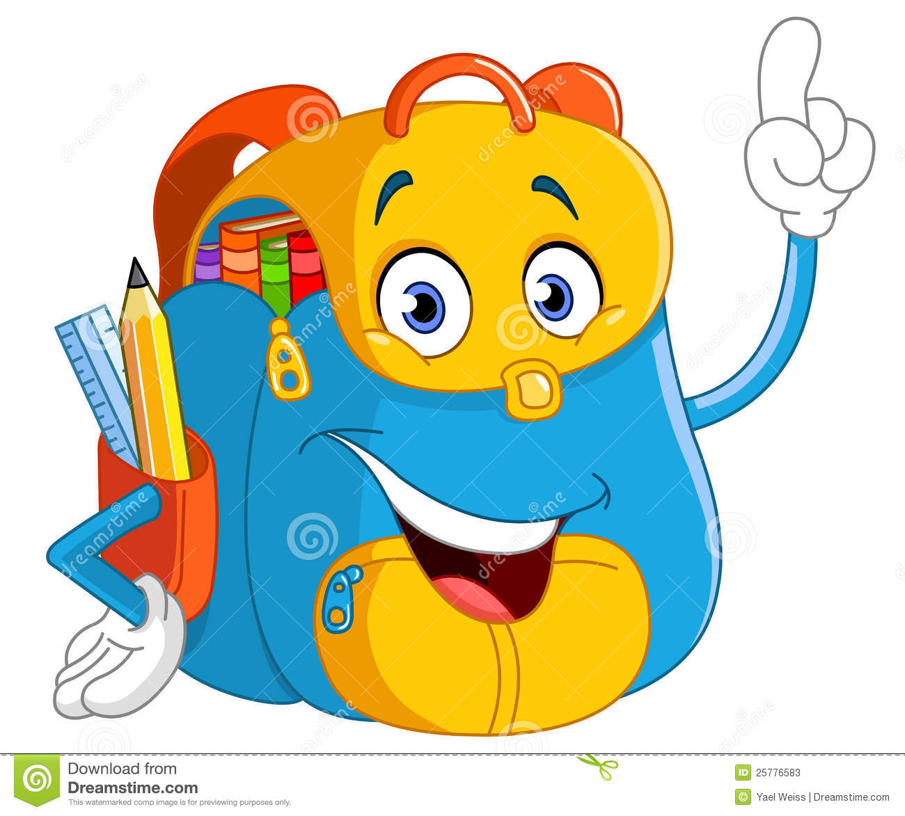 Sac dos de dessin anim photos stock image 25776583 - Dessin avec emoticone ...