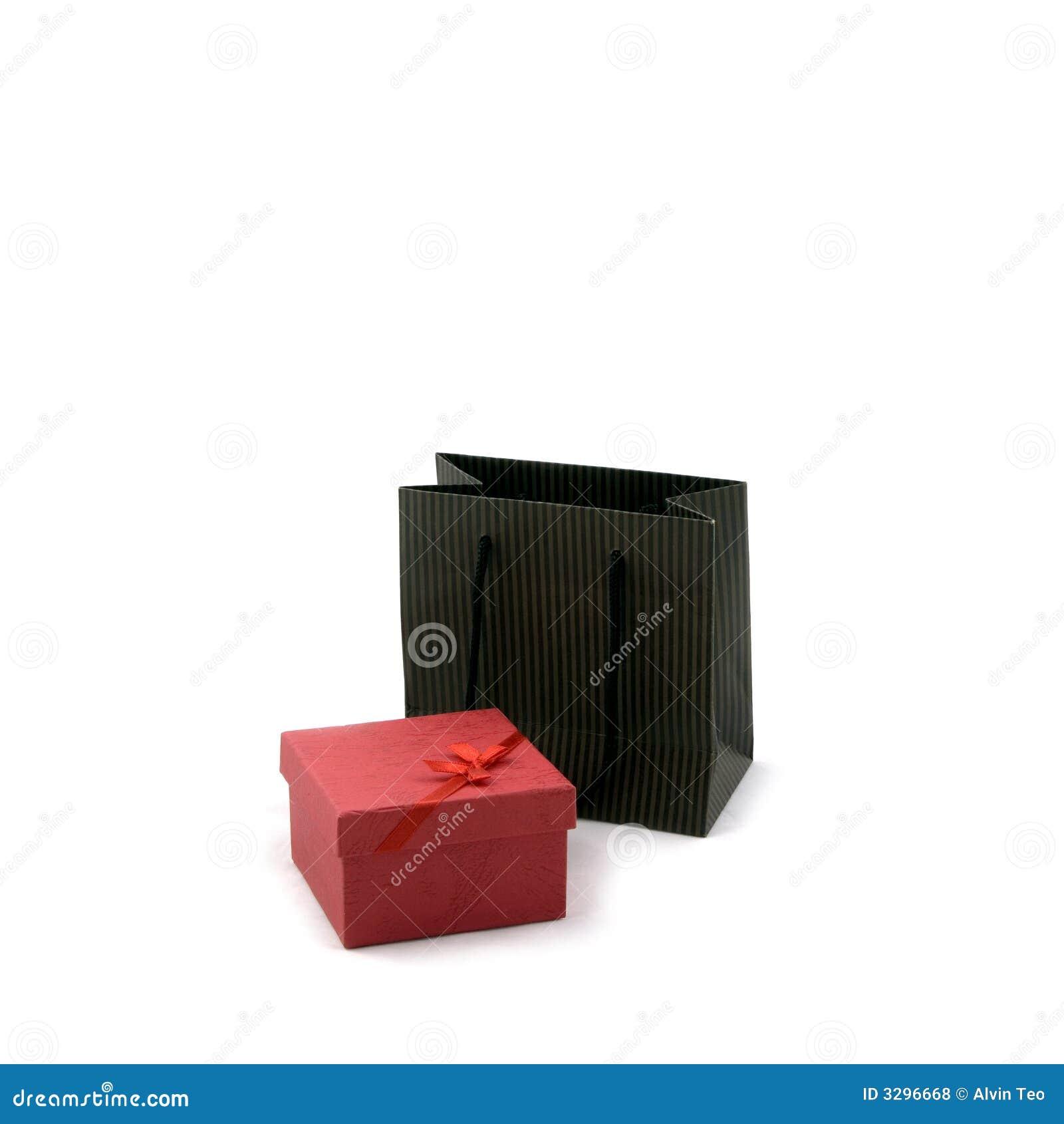 Sac à provisions et cadre de cadeau