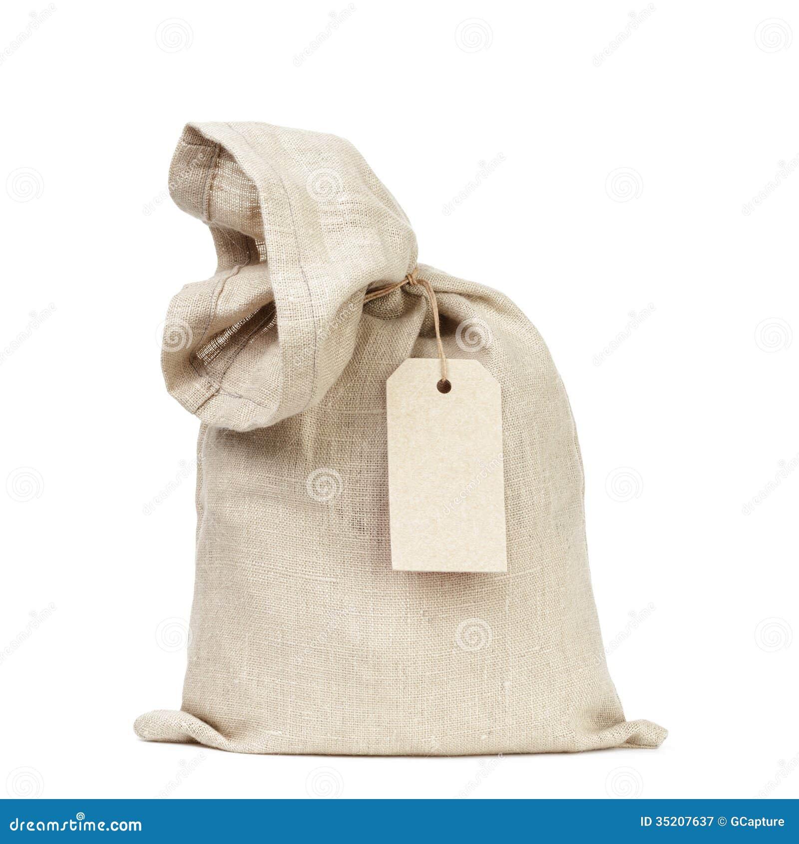 Sac attaché de sac avec l étiquette de papier