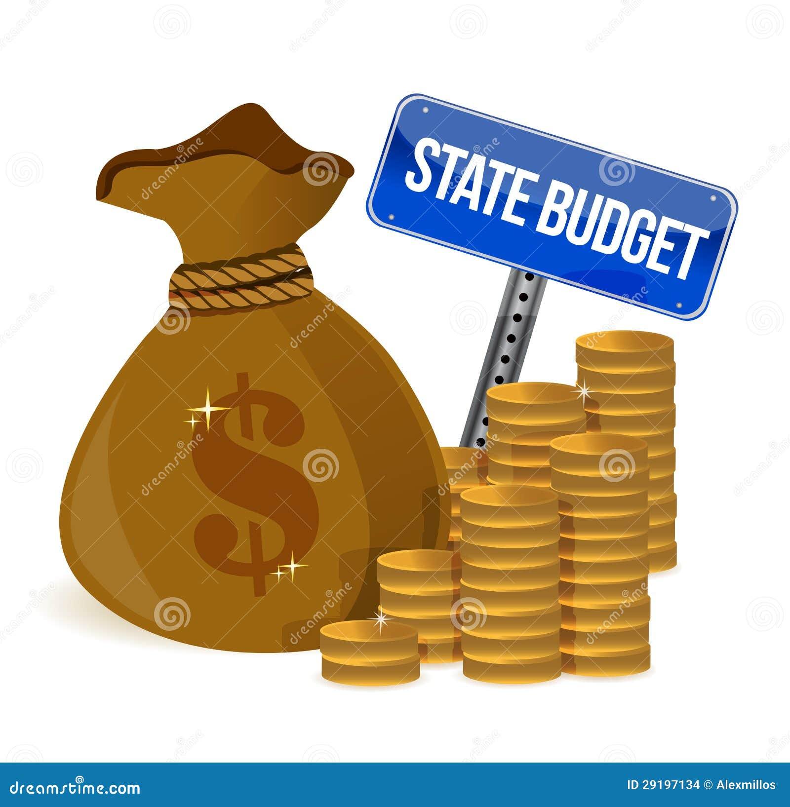 sac d 39 argent avec le budget de l 39 tat images stock image 29197134. Black Bedroom Furniture Sets. Home Design Ideas