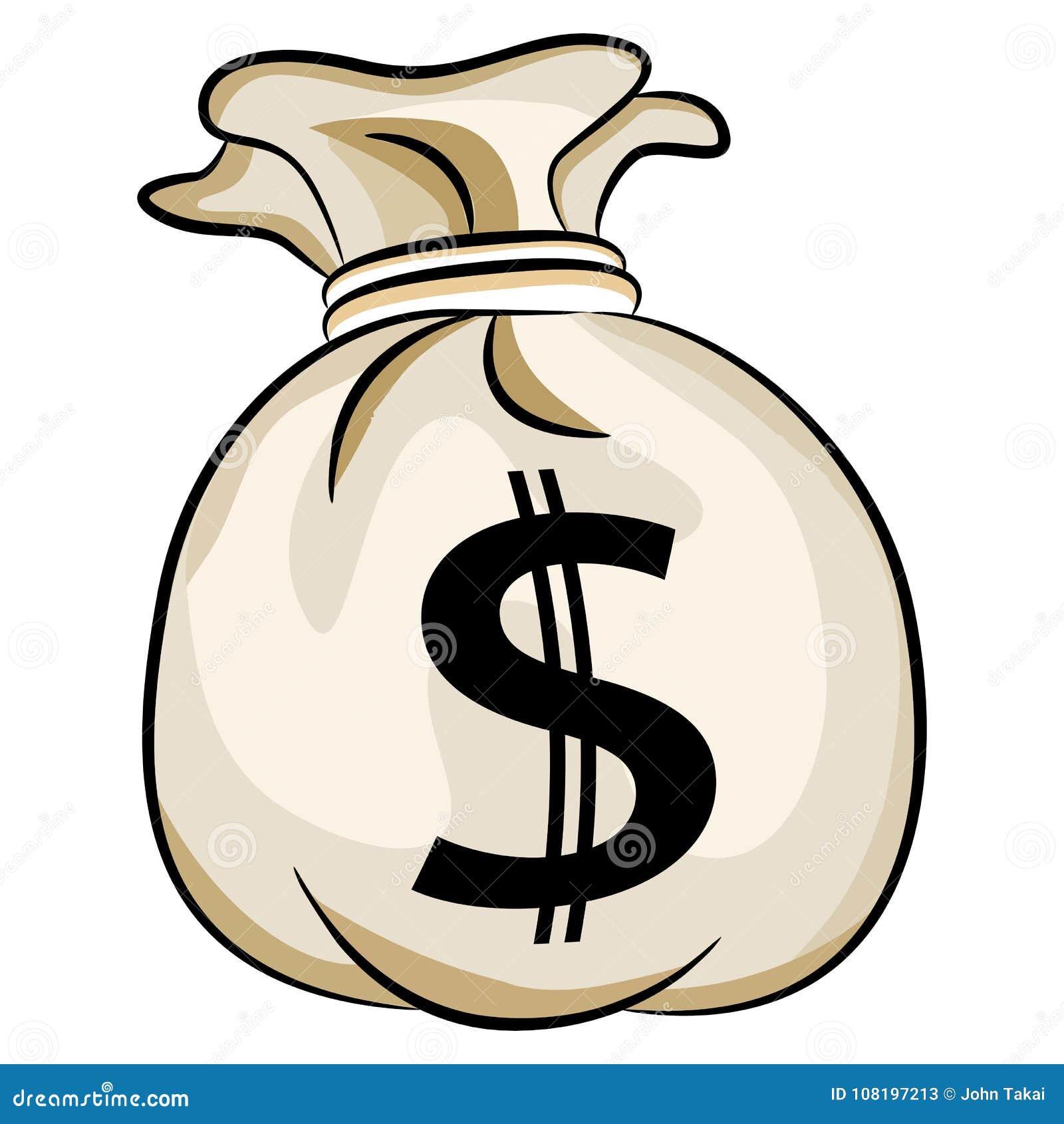 Sac d argent liquide des USA de monnaie de banque