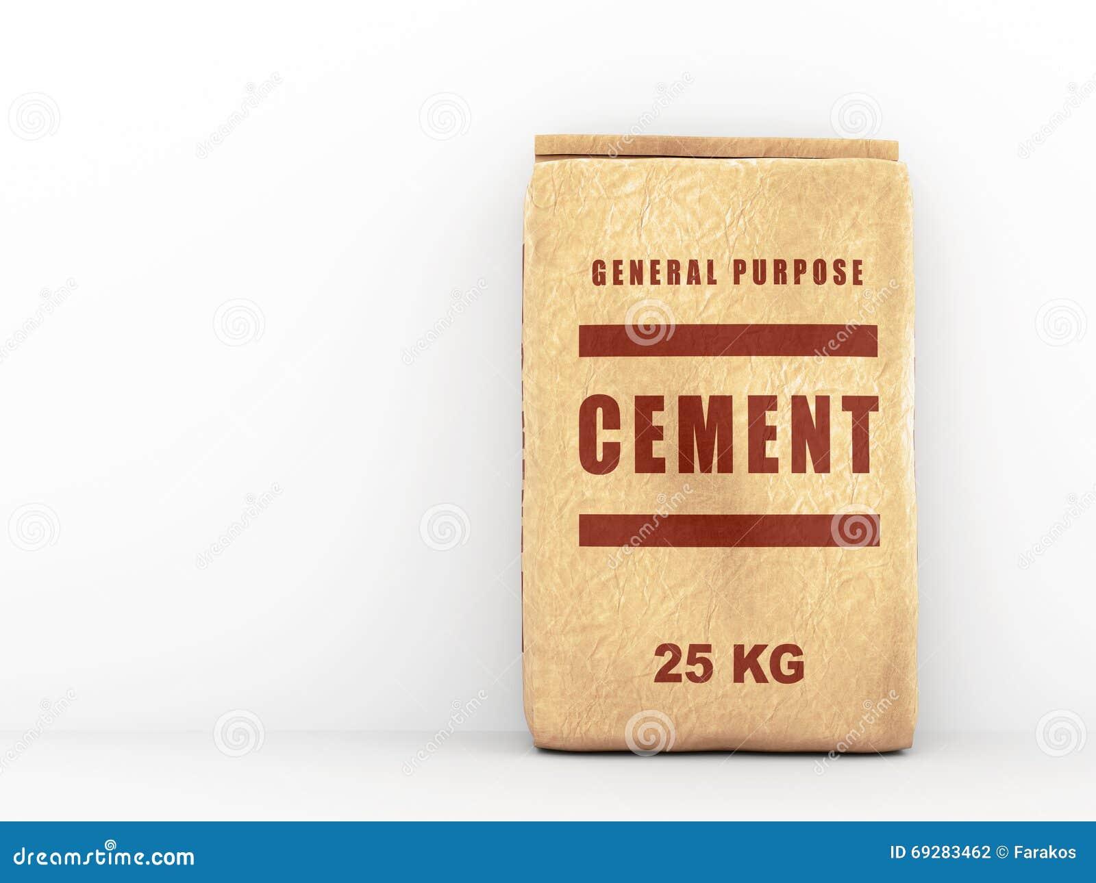 sac de papier de ciment illustration stock image du blanc 69283462. Black Bedroom Furniture Sets. Home Design Ideas