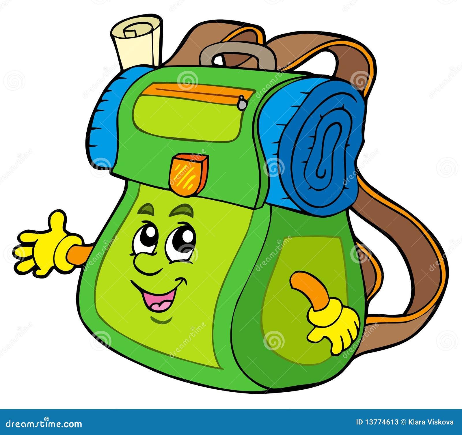 Sac dos de dessin anim photos stock image 13774613 - Coloriage sac a dos ...
