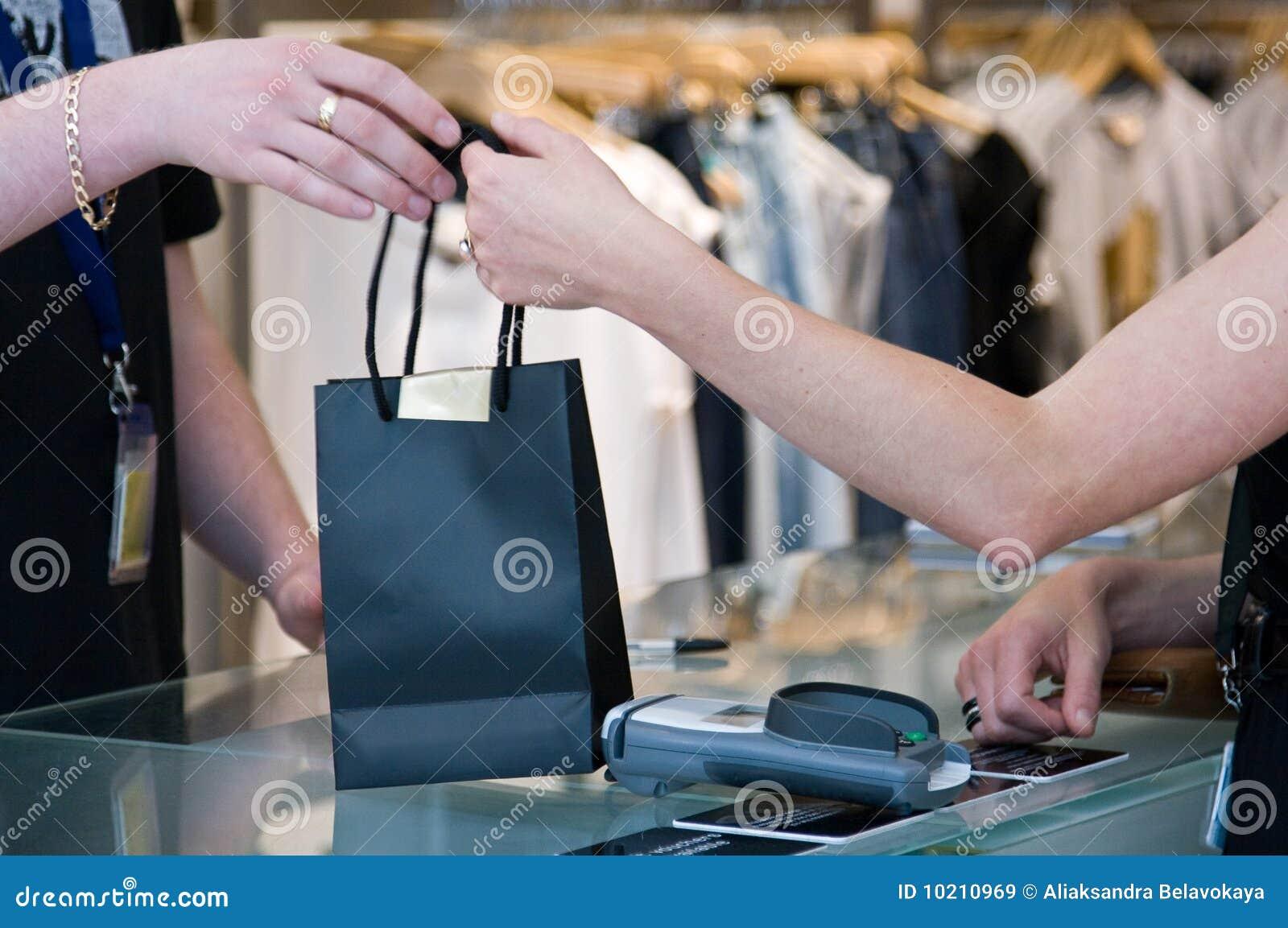 Sac passant des achats