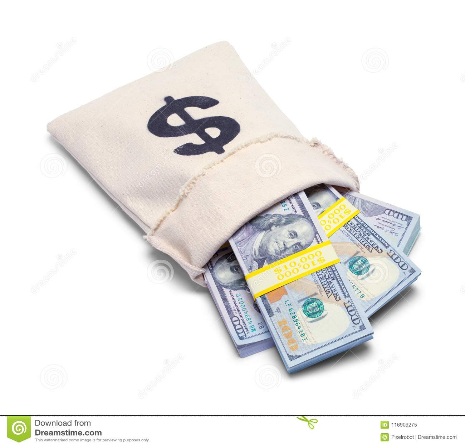 Sac Renversé D'argent Image StockDu ArgentDégrèvement OXuPkiZ