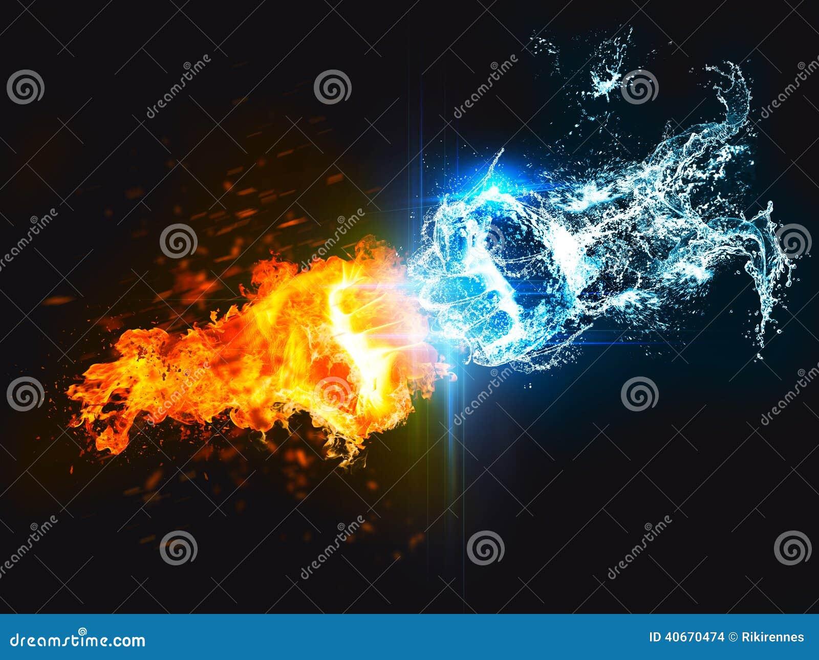 Sacador Del Fuego Contra El Agua Stock De Ilustraci 243 N