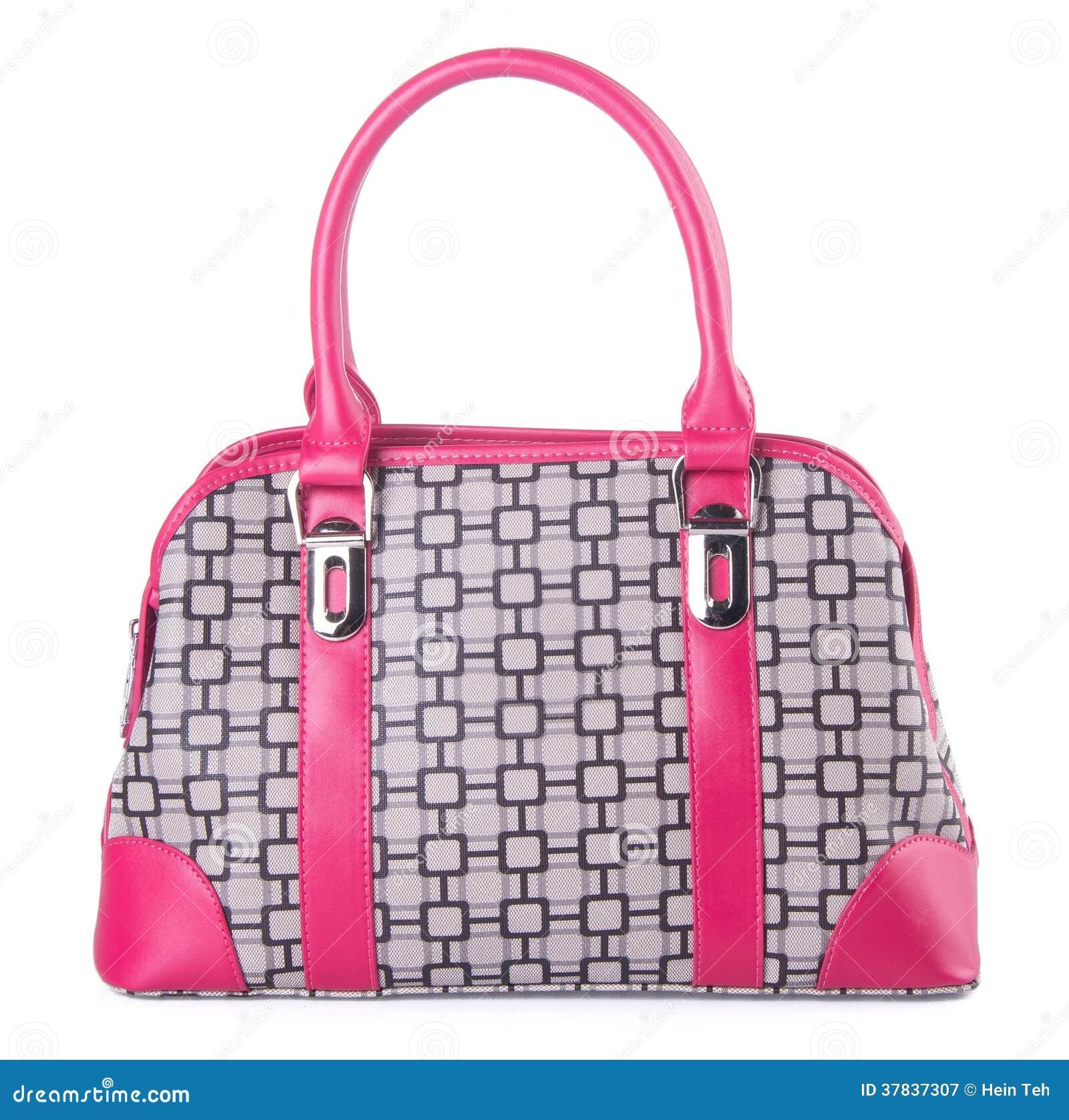 Sacchetto borsa delle donne su un fondo