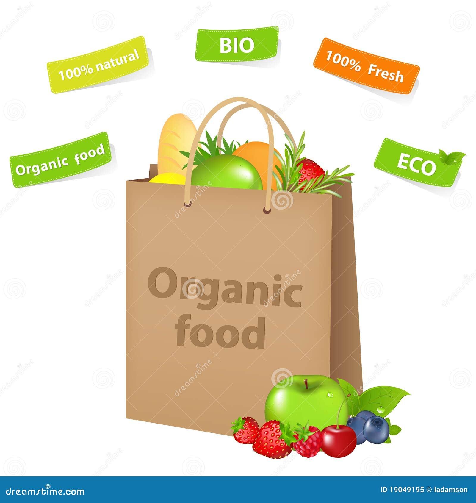 Sacchetto con alimento biologico