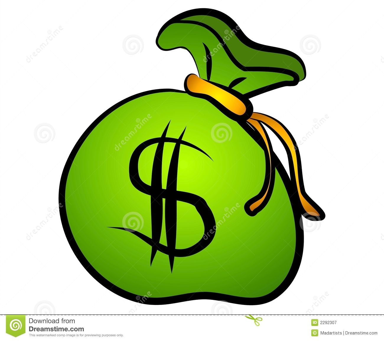 sacchetto verde del segno del dollaro dei soldi illustrazione di rh it dreamstime com clipart dollari clipart dollar