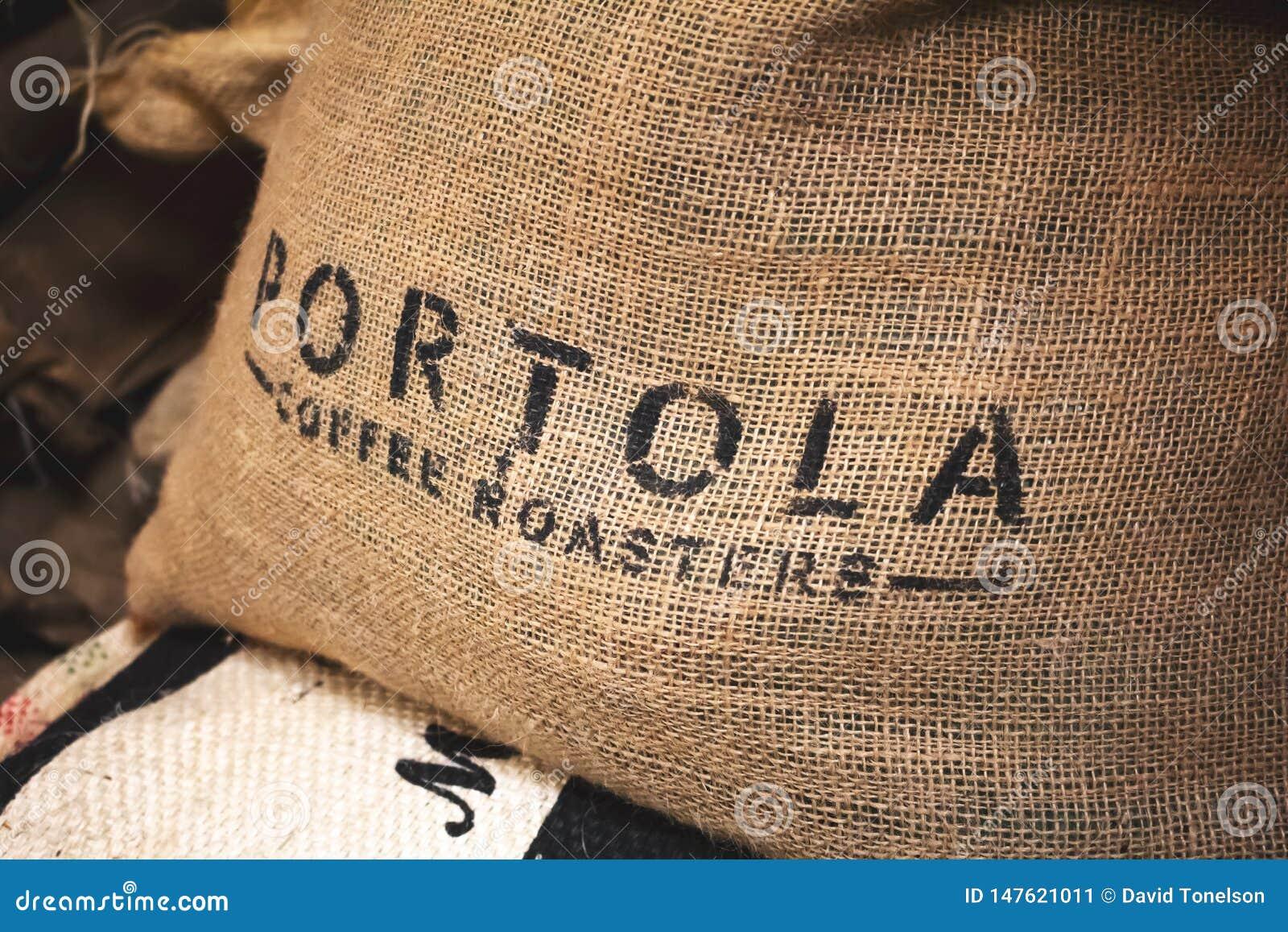 Sacco della tela da imballaggio dei tostacaffè di Portola