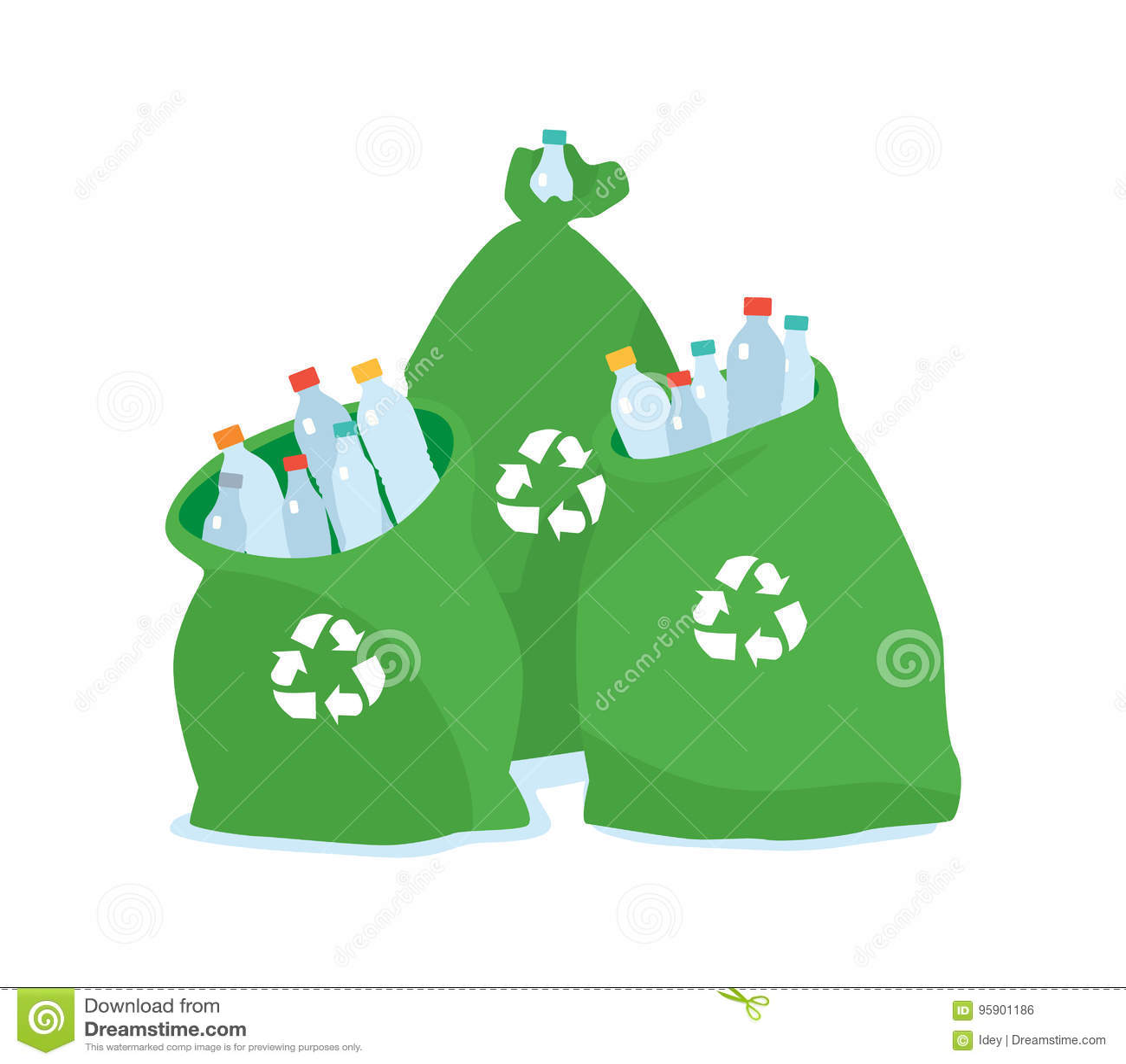 Sachet en plastique amical d écologie pour la réutilisation Ville de nettoyage Déchets de ménage