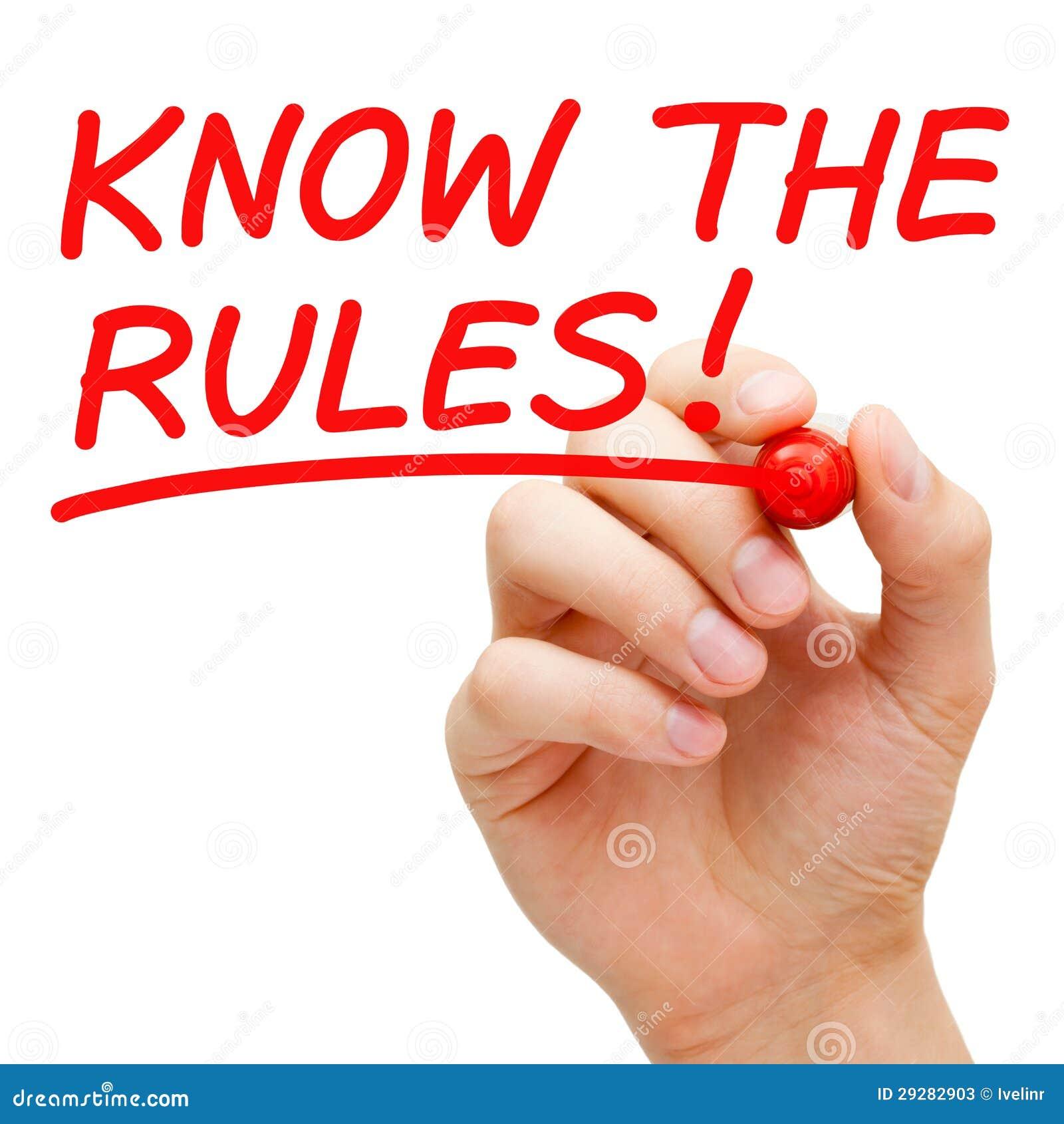 Sachez les règles