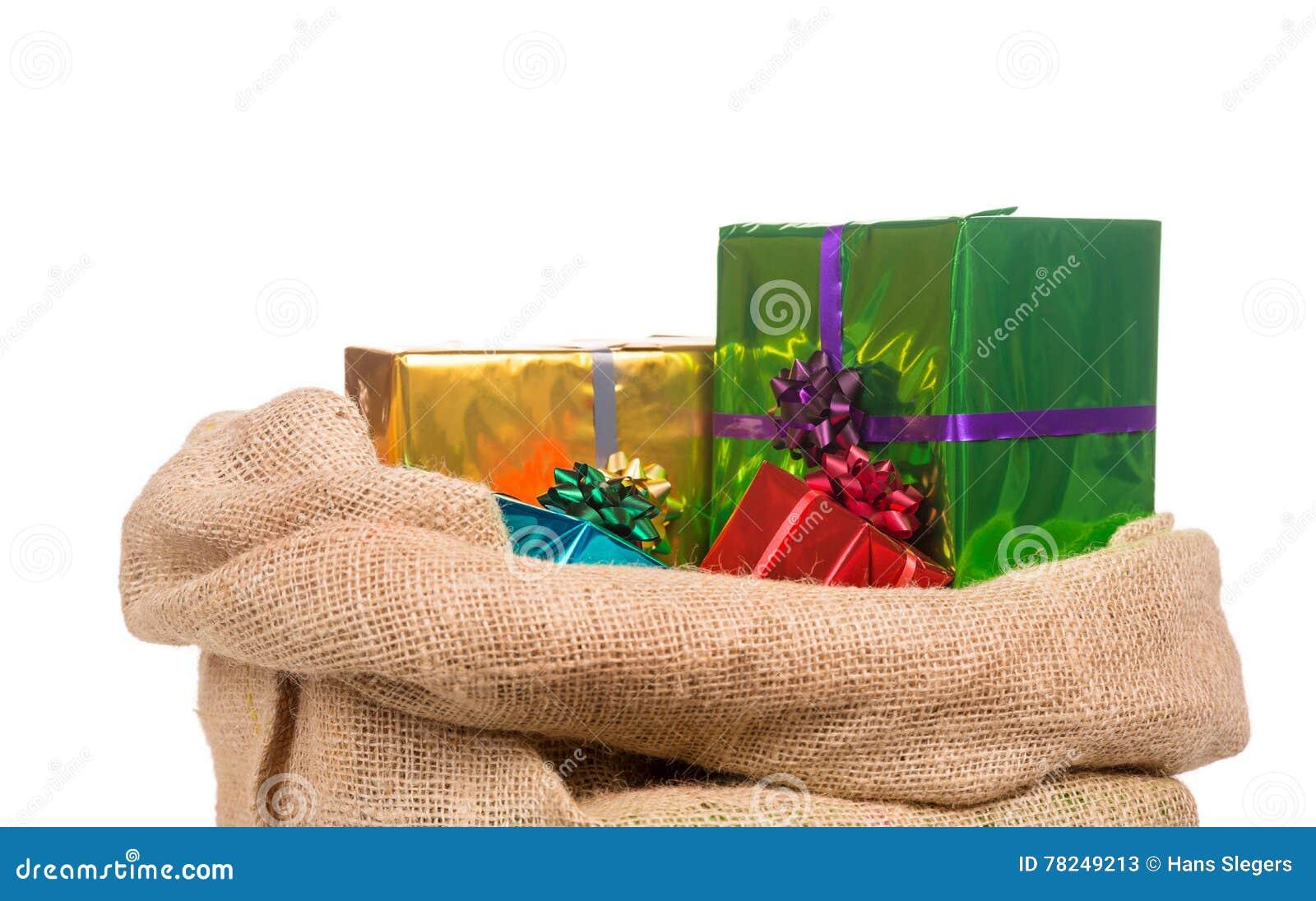 Sack Von Sankt Nikolaus Mit Geschenken Stockbild Bild Von Peter