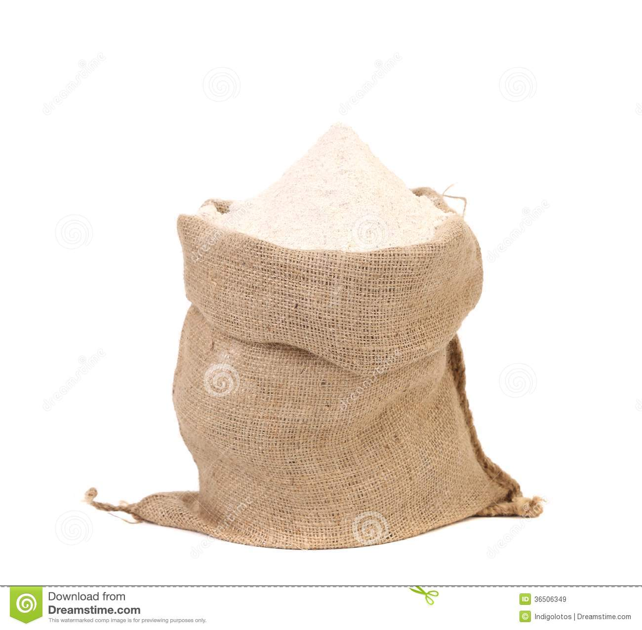 Sack With Wheat Flour. Royalty Free Stock Images - Image ...