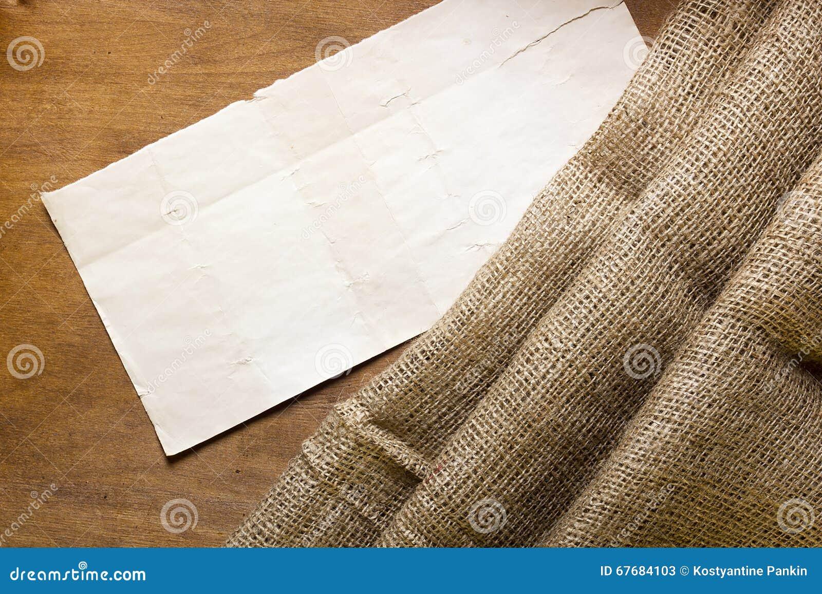 Sackcloth και χαρτονιού ετικέττα