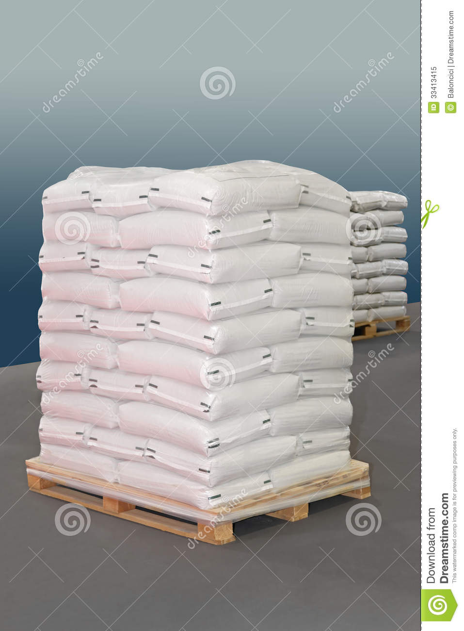 Sacks Pallet Stock Image Image Of White Logistic Bags