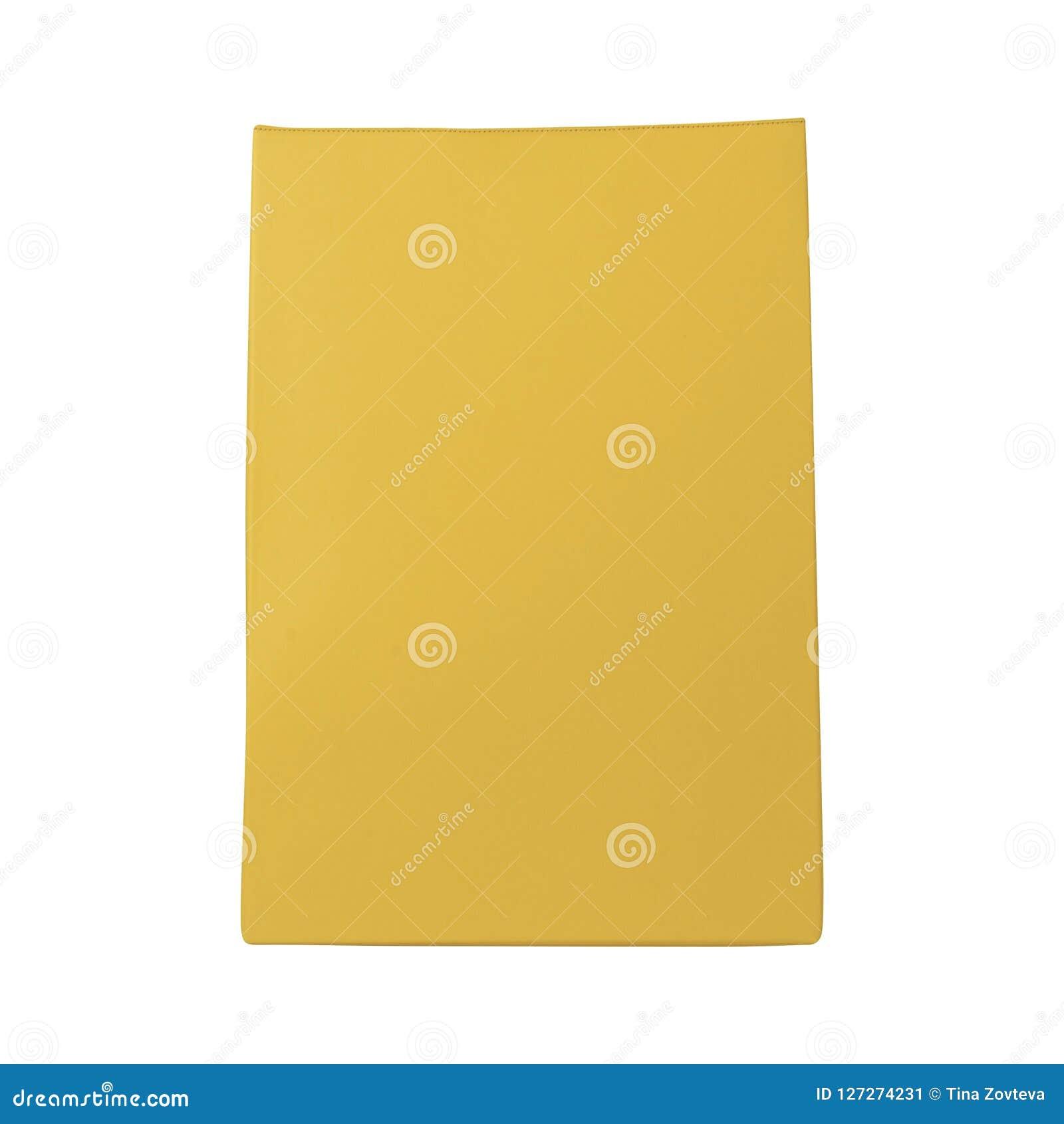 Saco amarelo isolado