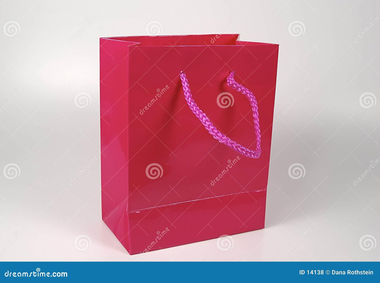 Saco cor-de-rosa do presente