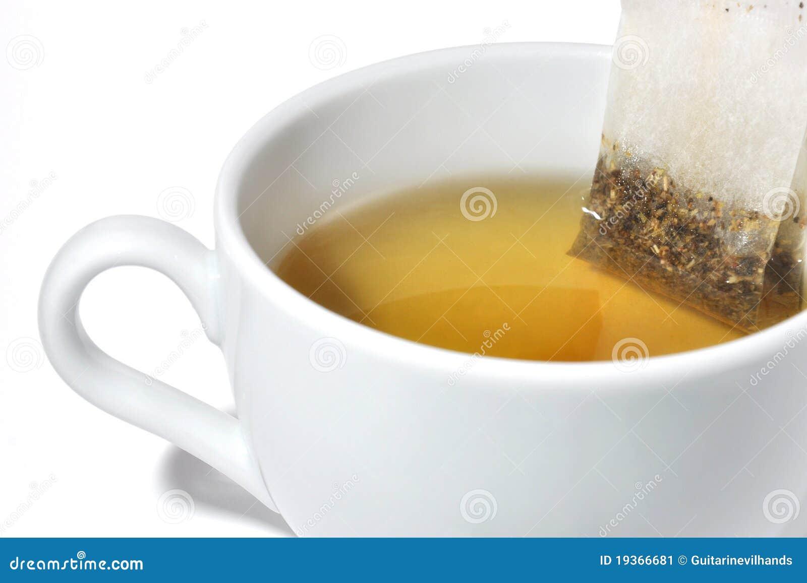 Saco de chá em um copo