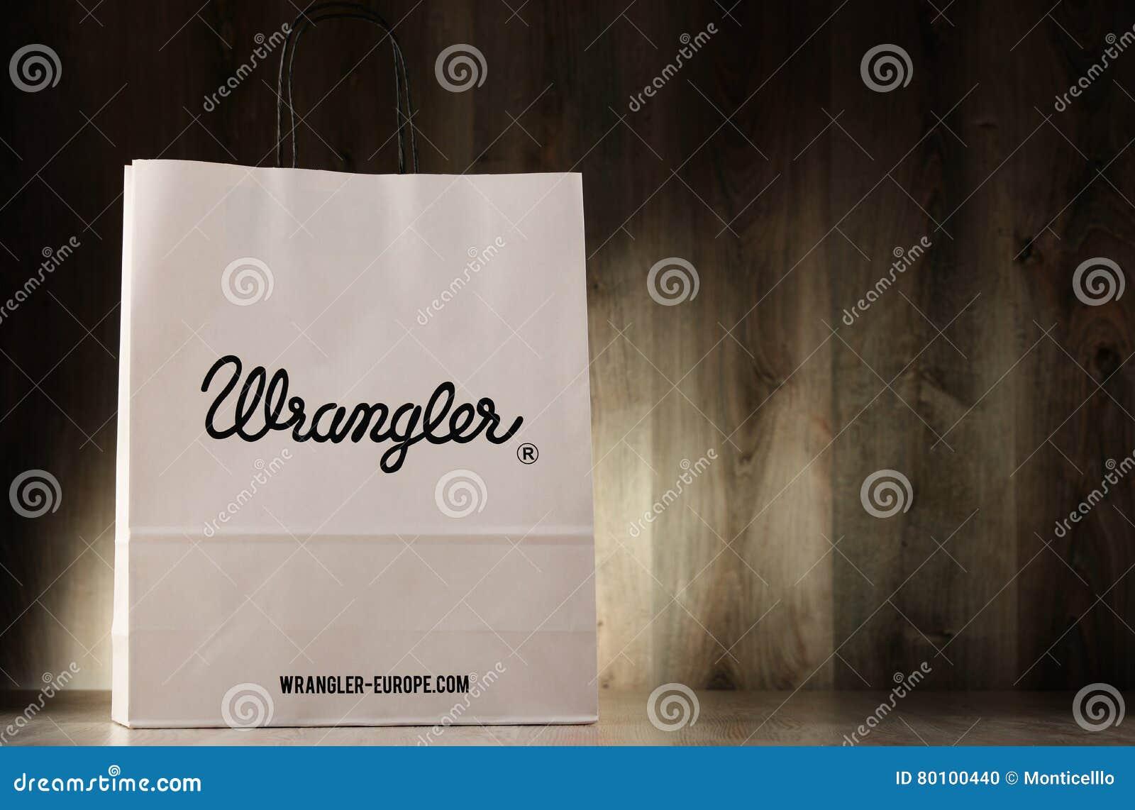 Saco de compras original do papel do Wrangler