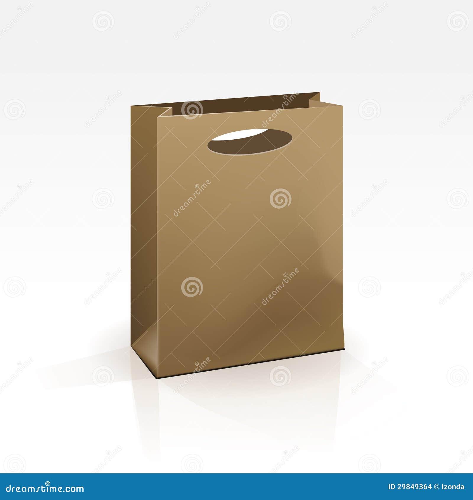 Saco de compras vazio no fundo branco