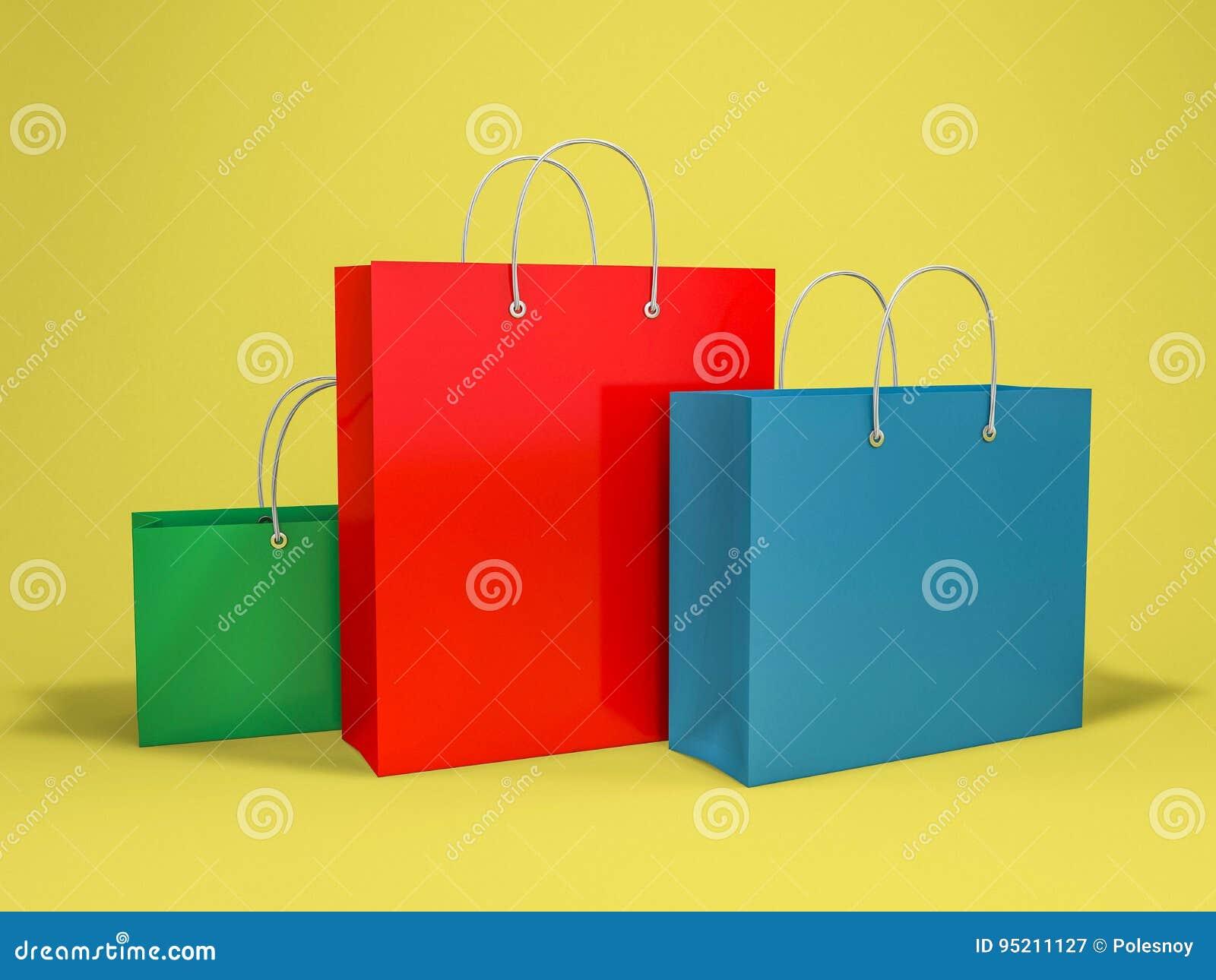Saco de compras vazio para anunciar e marcar