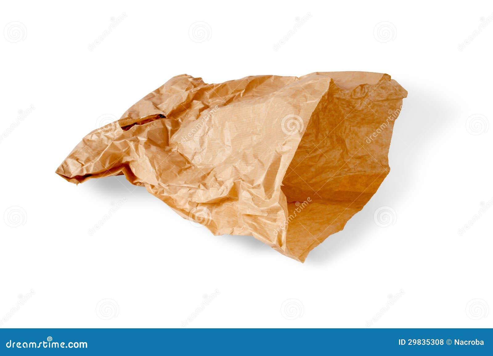 Saco de papel enrugado