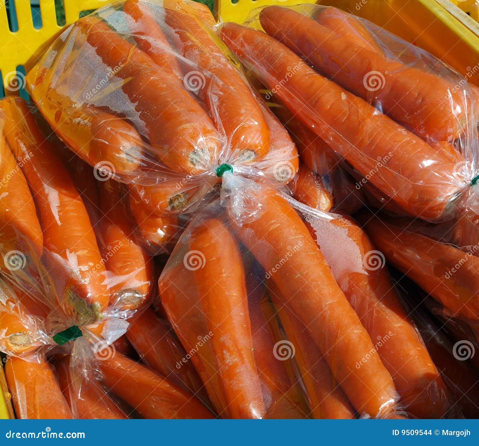 Sacos das cenouras